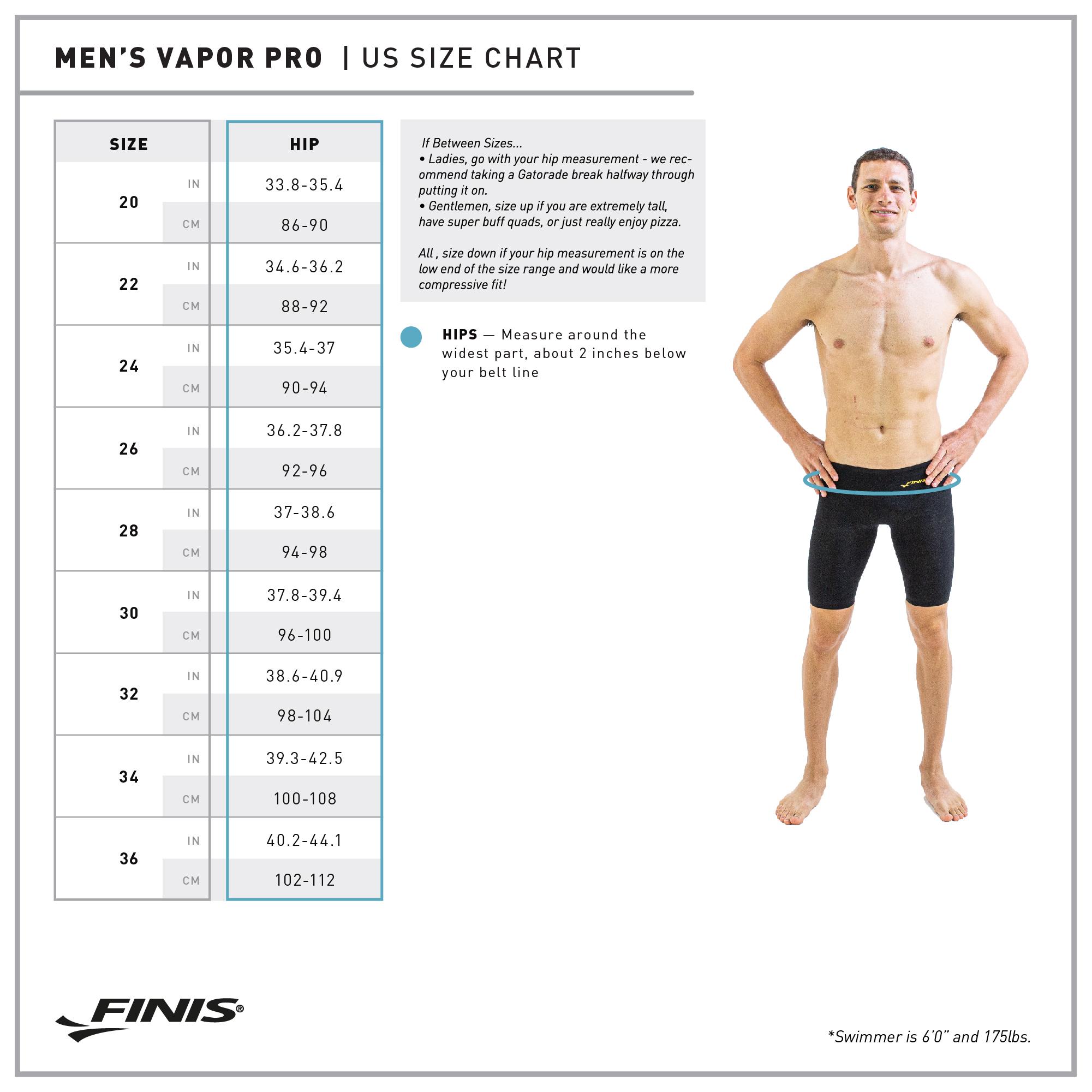 FINIS Mens Male Vapor Jammer Black